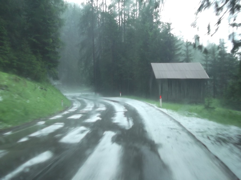 Hail on the roads