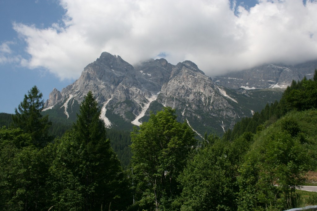 View into the Dolomites